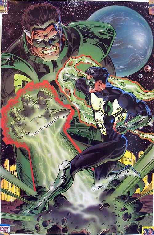 Green Lantern #0 poster - Kyle Rayner versus Parallax