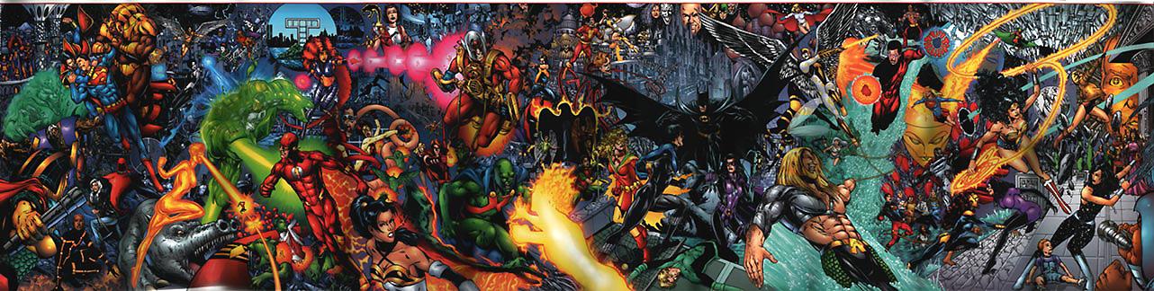 JLA/Titans poster by Phil Jimenez