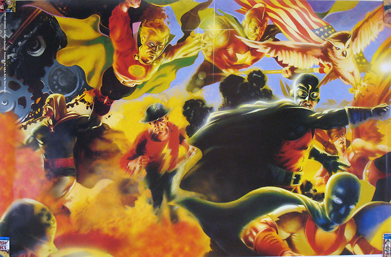 Justice Society of America poster by Tony Harris