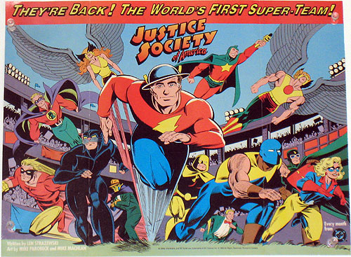Justice Society of America promotional poster by Mike Parobeck