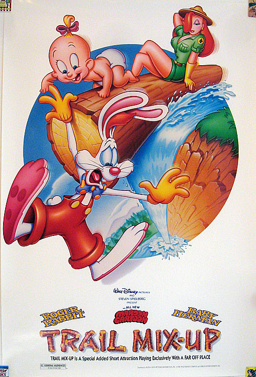 Roger Rabbit Trail Mix-Up one-sheet movie poster