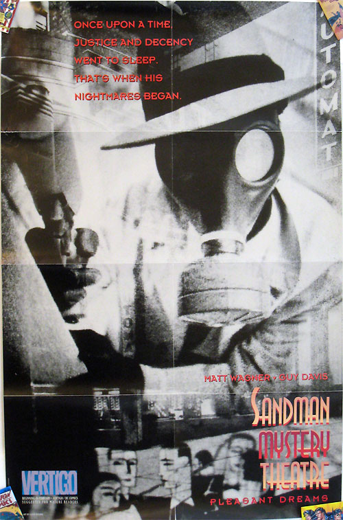 Sandman Mystery Theatre promotional poster by Matt Wagner, Guy Davis, and Gavin Wilson