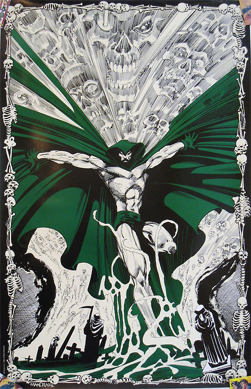 Spectre glow in the dark poster by Tom Mandrake