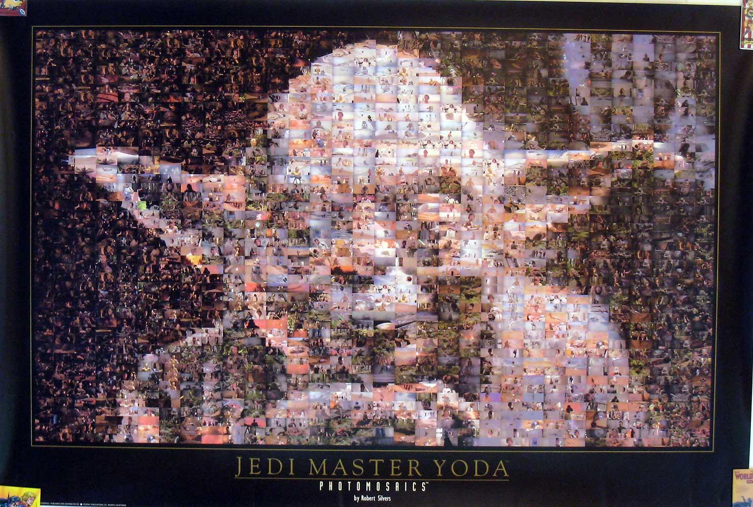 Yoda Photomosaics by Robert Silvers