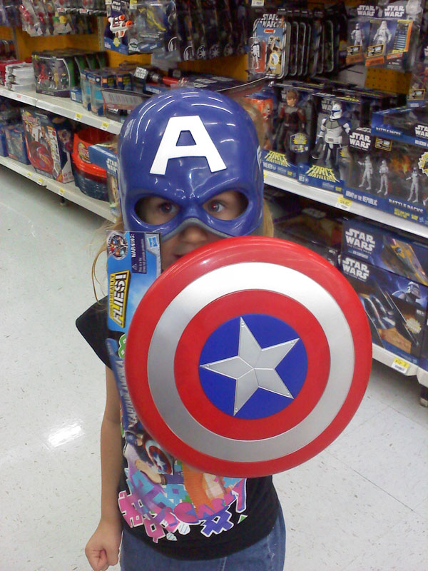 The Precocious Princess as Captain America