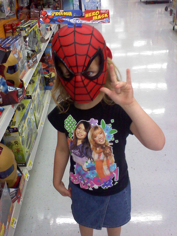 The Precocious Princess as Spider-Man