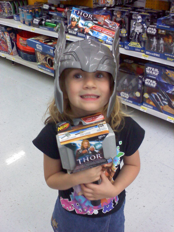 The Precocious Princess as Thor