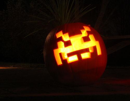 Space Invaders Pumpkin