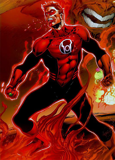 Hal Jordan as a Red Lantern