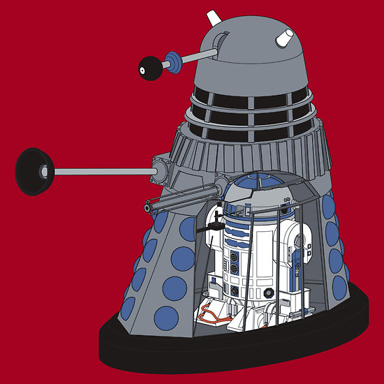 Robots in Disguise - Doctor Who Dalek and Star Wars R2-D2