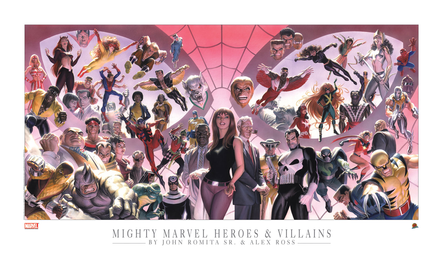 Alex Ross and John Romita Sr Mighty Marvel Heroes and Villains