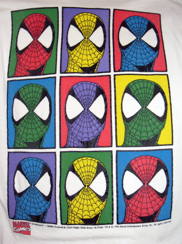 Spider-Man Andy Warhol style