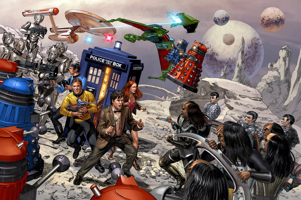 Star Trek vs Doctor Who by Mike Mayhew and Rain Beredo