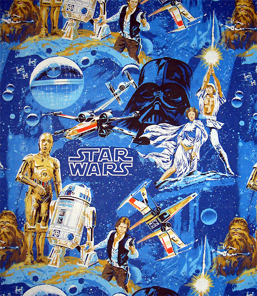 1977 Vintage Star Wars bed sheets