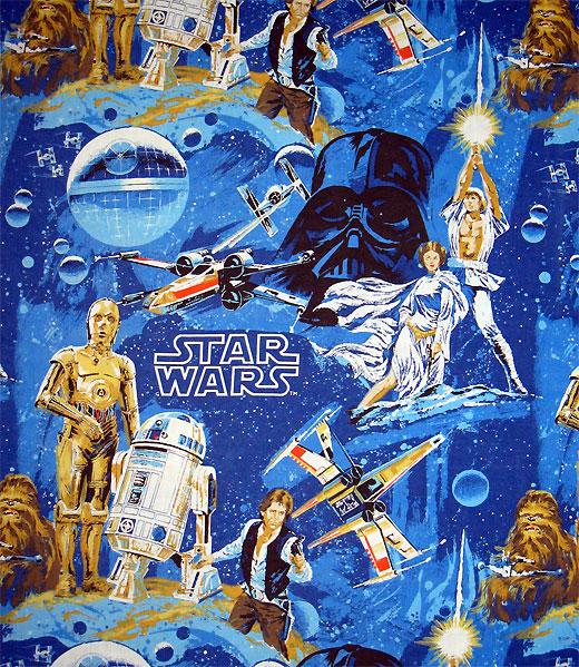 1977 Vintage Star Wars bed sheets