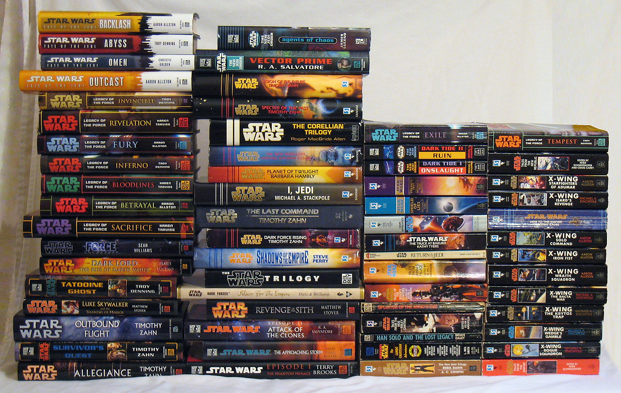 Star Wars novels - Shag's book collection