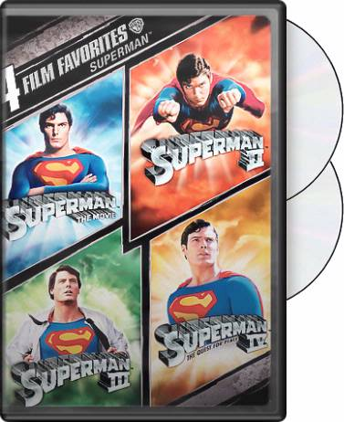 All Four Superman Films on DVD