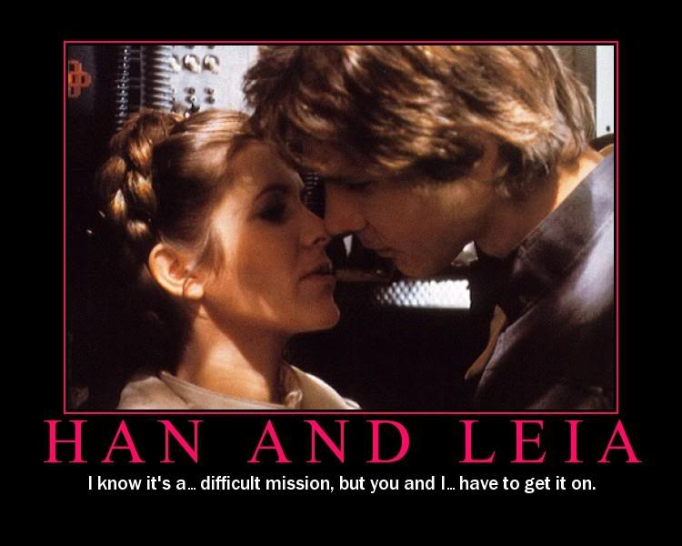 Star Wars Motivational Poster Han Solo and Leia