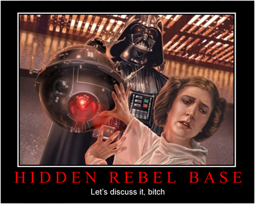 Star Wars Motivational Poster - Darth Vader and Leia