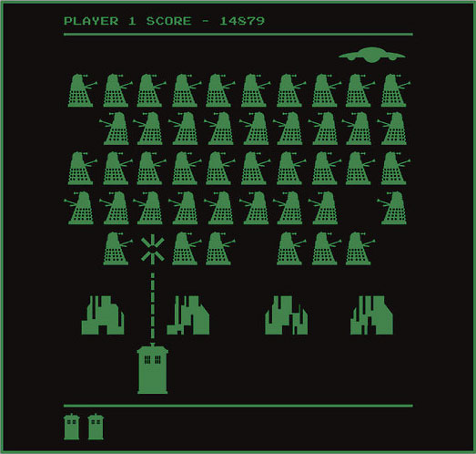 Space Invaders - Doctor Who TARDIS vs Dalek