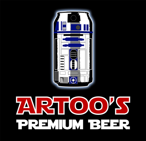 Star Wars: Artoo Premium Beer on TeeFury