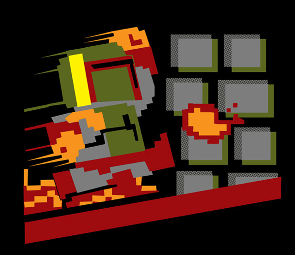 Star Wars: Super Fett Bros on TeeFury