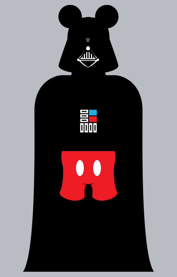 Star Wars: Vader Mouse on TeeFury