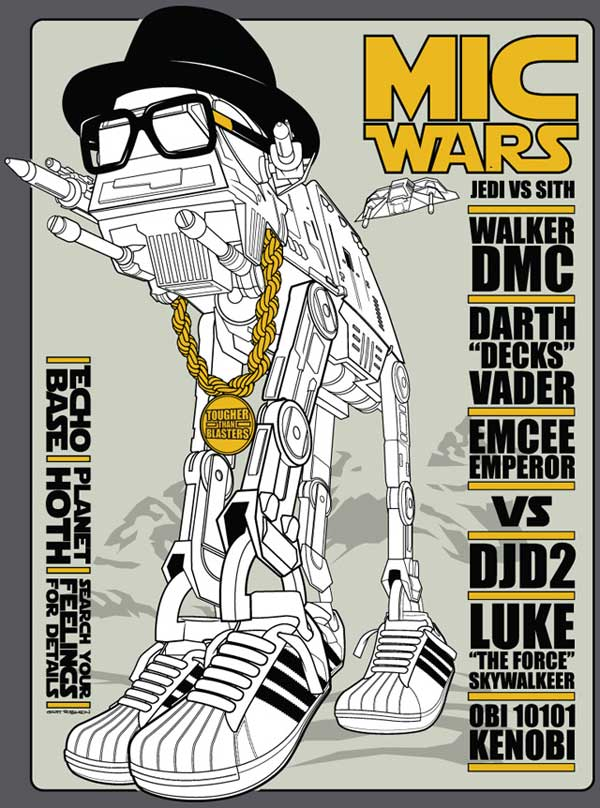 Star Wars: Walker This Way on TeeFury