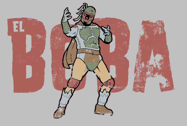 Star Wars: El Boba on TeeFury