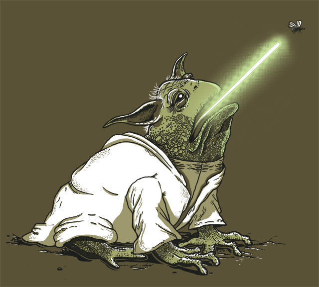 Star Wars: Master Toda on TeeFury