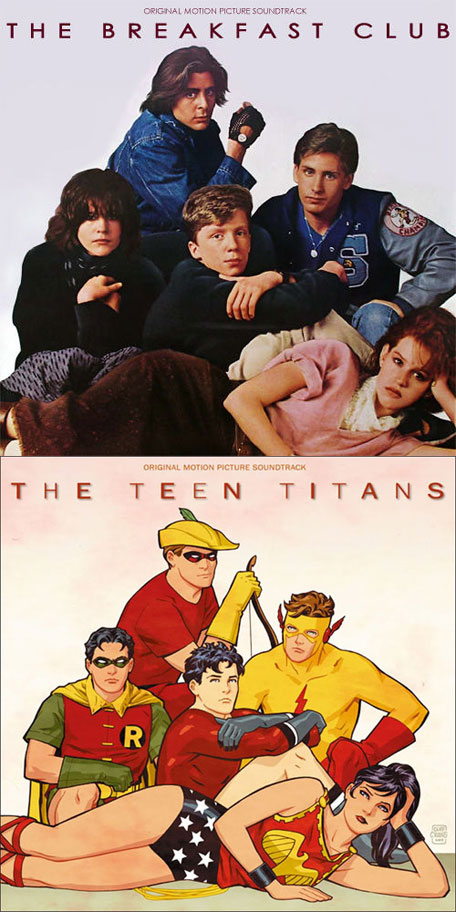 Teen Titans/Breakfast Club Mash-up