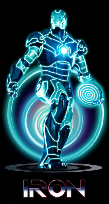 Tron as Iron Man