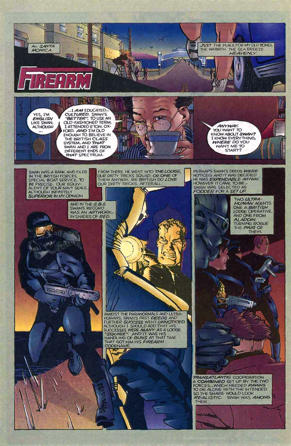 Firearm origin from the Malibu Ultraverse
