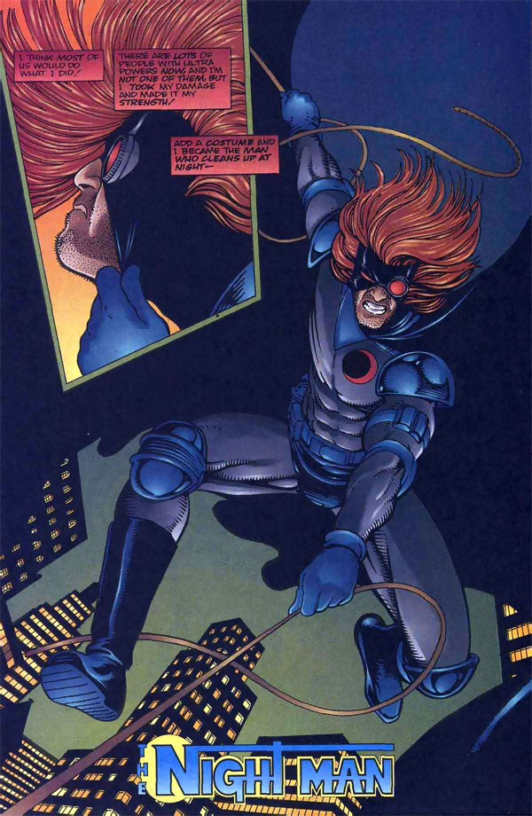 The Night Man origin from the Malibu Ultraverse