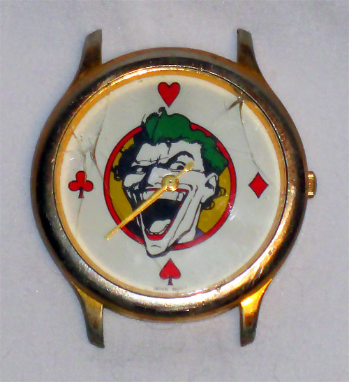 Fossil Joker watch from 1989 - Art by Kyle Baker