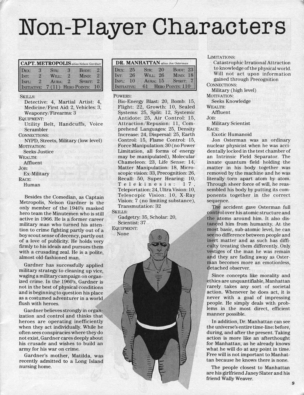 watchmen fair rpg stats once upon a geek while compiling information
