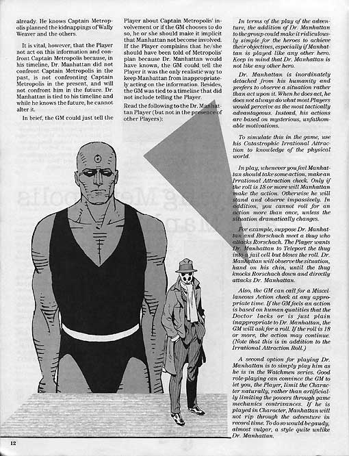 Watchmen - Mayfair RPG Stats (1987) | Once Upon a Geek