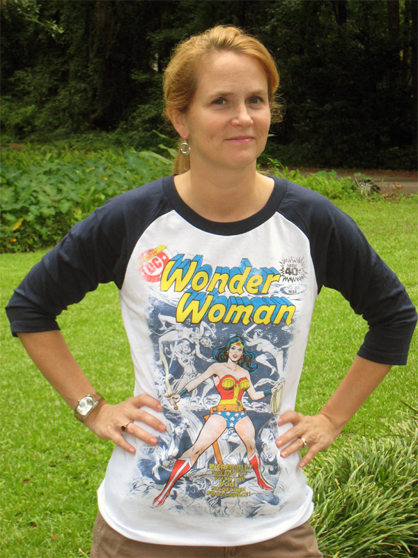 The Irrepressible Gena's Wonder Woman t-shirt